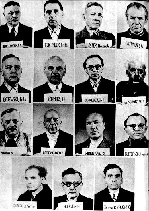 I.G. Farben ble stilt for retten i Nürnberg